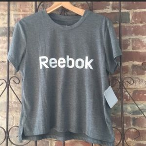 Reebok Glow shirt sleeve tee top gray large NWT
